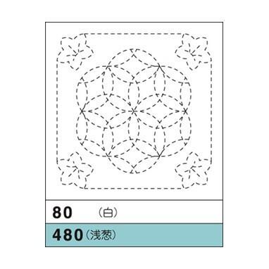 オリムパス花ふきん No.80(白)桔梗と花刺し